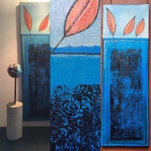 """""""Terre d'Automne"""" Acrylique et fusain 60 x 20 cm 220€"""