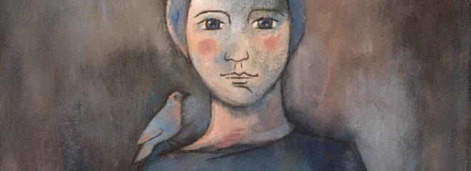 """""""L'enfant et l'oiseau"""" 46x65 cm Techniques mixtes 360€"""